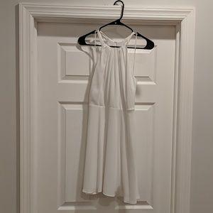 Express size 4 white halter dress